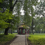 Chinese pavilion in summer park Royalty Free Stock Photo