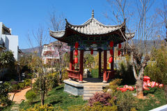 Chinese pavilion in traditional style. In Lijiang, China Stock Photos