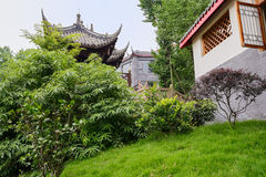 Chinese pavilion in verdant green Royalty Free Stock Photography