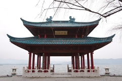 Chinese pavilion at West Lake, Hangzhou, China Stock Photos