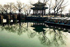 A Chinese pavilion in winter Royalty Free Stock Photo