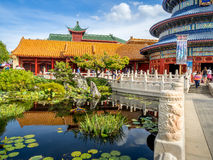 Chinese Pavilion, World Showcase, Epcot Stock Photos