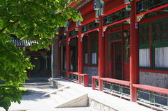 Chinese pavilions. A views of chinese grounds of Beijing Zhongshan Park,Beijing Stock Images