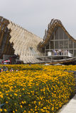 Chinese Pavillion in Expo 2015 Stock Foto's