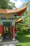 Chinese Pavillion In Garden Stock Photo
