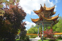 Chinese Pavillion In Garden Stock Image