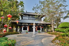 Chinese pavillon. Royal Park Rajapruek. Chiang Mai province. Thailand Stock Photo
