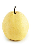 Chinese pear. Yellow chinese pear on white background Stock Photography