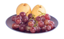 Chinese pear and grape Royalty Free Stock Images