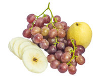 Chinese pear and grape Stock Photography