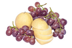 Chinese pear and grape Stock Images
