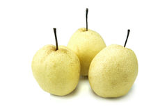 Chinese pear isolated on white background Stock Image