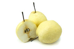Chinese pear isolated on white background Royalty Free Stock Photography