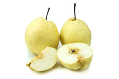 Chinese pear isolated on white background Royalty Free Stock Photo