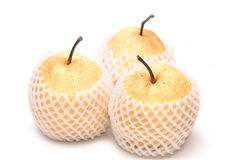 Chinese pear nashi isolated Stock Image