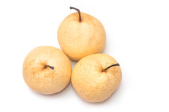 Chinese pear nashi isolated Royalty Free Stock Photo