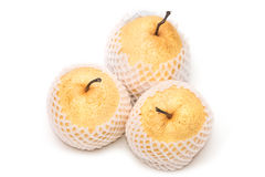 Chinese pear nashi isolated Stock Photo
