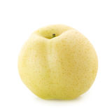 Chinese pear and Sliced  on a whate background Stock Photography