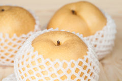 Chinese pear in a soft pack Stock Photo
