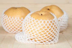 Chinese pear in a soft pack Stock Photography