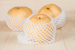 Chinese pear in a soft pack Royalty Free Stock Photos