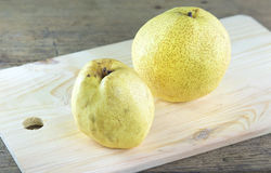 Chinese pear. On a wooden cutting board Royalty Free Stock Photography