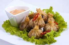 Chinese Pelmeni Stock Images