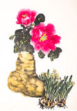 Chinese peony ink drawing Royalty Free Stock Photo