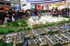 Chinese people buying house stock photo
