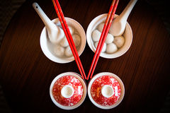 Chinese people eat dumplings and tea wedding royalty free stock photography