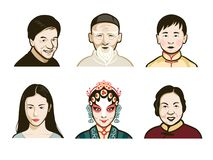 Chinese people faces stock photography