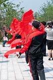 The Chinese people fan dancing in the park Royalty Free Stock Photography