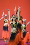 Chinese people folk dance Royalty Free Stock Photography