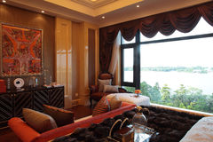 Chinese people living environment. The bedroom,The room,Example room Royalty Free Stock Photography