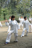 Chinese people are playing taiji Royalty Free Stock Photo
