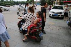 Chinese motorists stock image