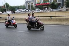 Chinese motorists royalty free stock images
