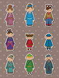 Chinese People Stickers Royalty Free Stock Photo