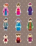 Chinese people stickers Stock Photos