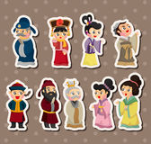 Chinese people stickers Stock Photography