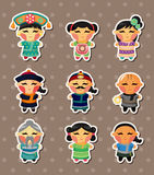 Chinese people stickers Royalty Free Stock Photos