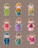 Chinese people stickers Stock Photo
