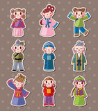 Chinese people stickers Stock Images