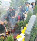 Chinese people Tomb sweeping royalty free stock photos