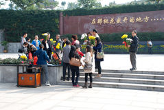 Chinese people Tomb sweeping Stock Photos