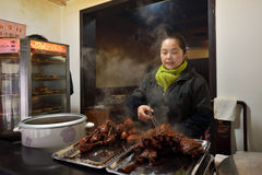 Chinese people trade traditional food Stock Photography