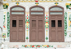 Chinese peranakan houses in Jonker Street Royalty Free Stock Photo