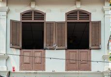Chinese peranakan huizen in Straat Jonker Royalty-vrije Stock Foto