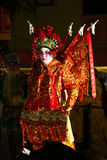 A Chinese performer playing in an Opera during mooncake festival Royalty Free Stock Images