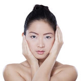 Chinese person with healthy skin Royalty Free Stock Photos